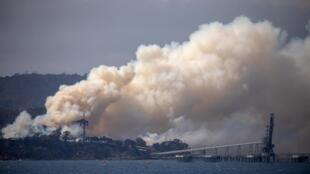 Eden Woodchip Mill, cerca del pequeño pueblo costero de Eden, al sureste de Australia, 10 de enero de 2020.