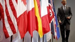 El presidente de los Estados Unidos, Barack Obama, al finalizar la reunión del G7 en Baviera.