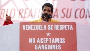 O presidente da Venezuela, Nicolás Maduro, atacou as medidas que foram aprovadas pelo Senado dos EUA .
