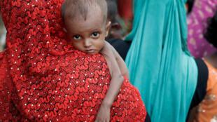 Criança refugiada rohingya em Bangladesh, 24 de setembro de 2017.