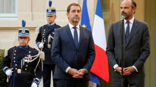 Christophe Castaner (esq.) e Edouard Philippe (drt)