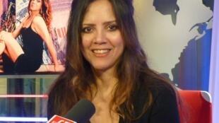 Malena Santillana en los estudios de RFI