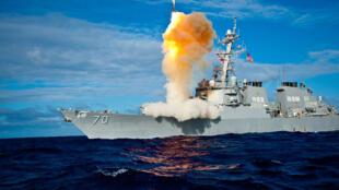 Một chiến hạm trong hệ thống lá chắn tên lửa của Hoa Kỳ.