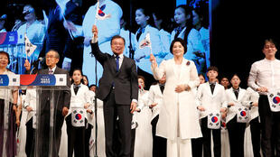 South Korean President Moon Jae-in celebrates National Liberation Day in Seoul