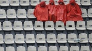 Rain stops play at the Roland Garros tennis tournament