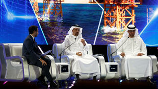 Bộ trưởng Năng Lượng Ả Rập Xê Út  Khalid al-Falih phát biểu tại diễn đàn  Sáng Kiến Đầu Tư Tương Lai – Future Investment Initiative (FII) ở  Riyad, Ả Rập Xê Út, ngày 23/10/2018.