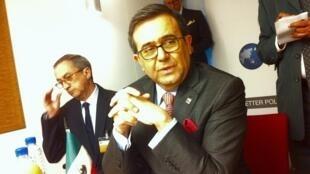 El secretario mexicano de Economía, Ildefonso Guajardo, en entrevista con RFI.