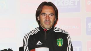 Corentin Martins, sélectionneur de l'équipe de Mauritanie lors du CHAN 2018 au Maroc.