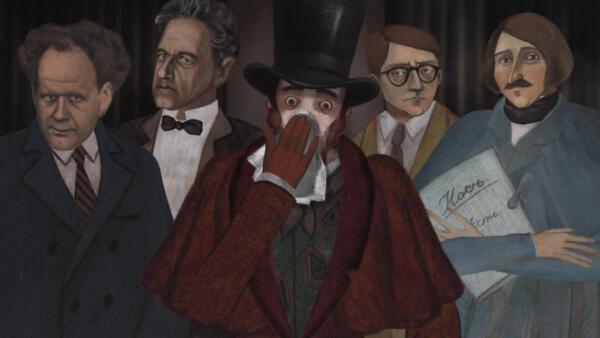 Кадр из анимационной картины Андрея Хржановского «Нос, или заговор«нетаких»