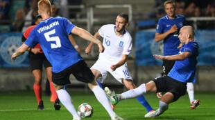 UEFA Nations League 2018 - Group 2, League C : Estonia đấu với Hy Lạp trên sân cỏ Tallinn. Ảnh ngày 08/09/2018.