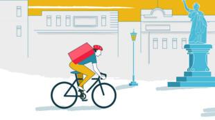 CoopCycle est une fédération européenne des coopératives de livraison à vélo (capture d'écran).