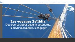 La page d'accueil du site de « Zellidja »