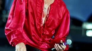 Джонни Халлидей на концерте в Париже 18 июня 1993