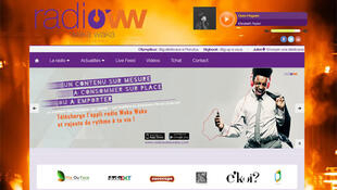 Page de garde de la webradio Radio Waka Waka.