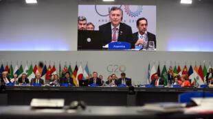 Los líderes del G20 en la sesión plenaria de este 1 de diciembre de 2018, en Buenos Aires.