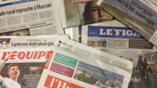 Primeiras páginas dos jornais franceses de 22 de fevereiro de 2018