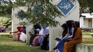 Tỉnh Aceh là nơi áp dụng Giáo luật Hồi Giáo nghiêm ngặt nhất tại Indonesia. Ảnh tư liệu chụp tại Banda Aceh, thủ phủ tỉnh Aceh ngày 26/12/2014.