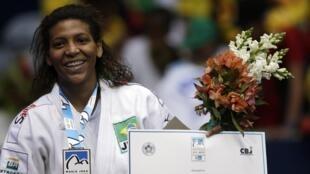 Rafaela Silva conquistou a única medalha de ouro para o Brasil no Mundial de judô do Rio de Janeiro.