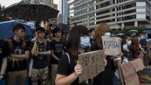 Os protestos continuaram em Hong Kong nesta quarta-feira