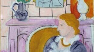 """Perfil azul diante da lareira"", de Henri Matisse"