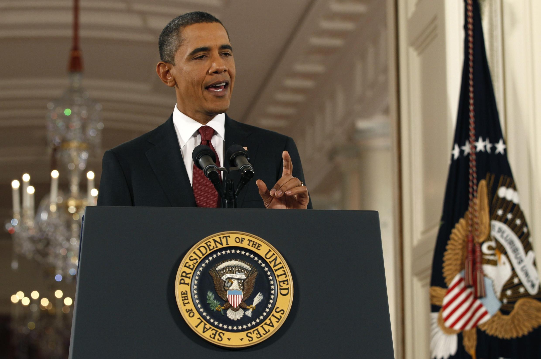 O presidente americano Barack Obama durante a coletiva de imprensa após as eleições legislativas, nesta quarta-feira