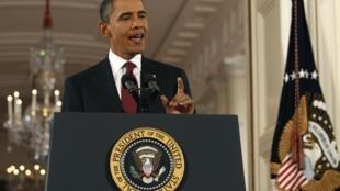 Le président des Etats-Unis Barack Obama lors d'une conférence de presse à la Maison Blanche, le 3 novembre 2010.