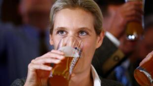 """آلیس وایدل، از حزب """"آلترناتیو برای آلمان"""" پس از راهیابی این حزب به مجلس بایرن"""