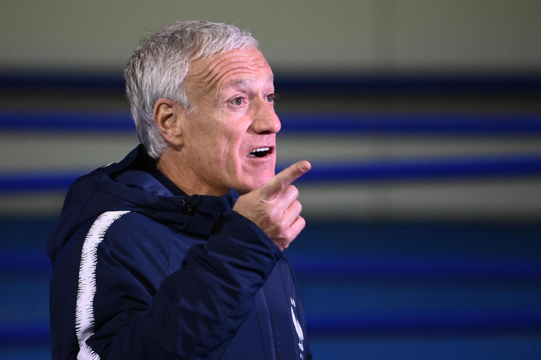 Le sélectionneur de l'équipe de France Didier Deschamps après le match contre la Croatie en Ligue des Nations, le 14 octobre 2020 à Zagreb