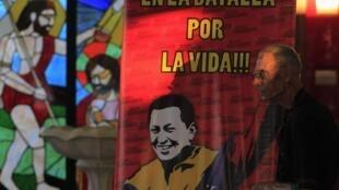 Oraciones por salud de Chavez en Nicaragua (1 de marzo de 2012).