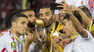 Les joueur du Wydad Casablanca lors de leur victoire en Ligue des champions africaine 2016-2017.