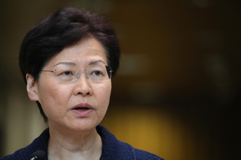 A chefe do executivo de Hong Kong, Carrie Lam (20/08/19).