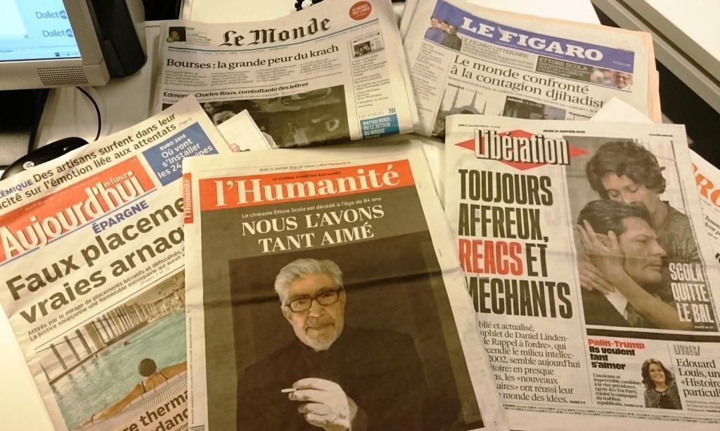 Diários franceses  21.01.2015
