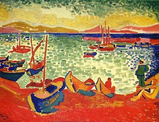 """""""Barcos en el puerto de Collioure"""" de André Derain, 1905."""