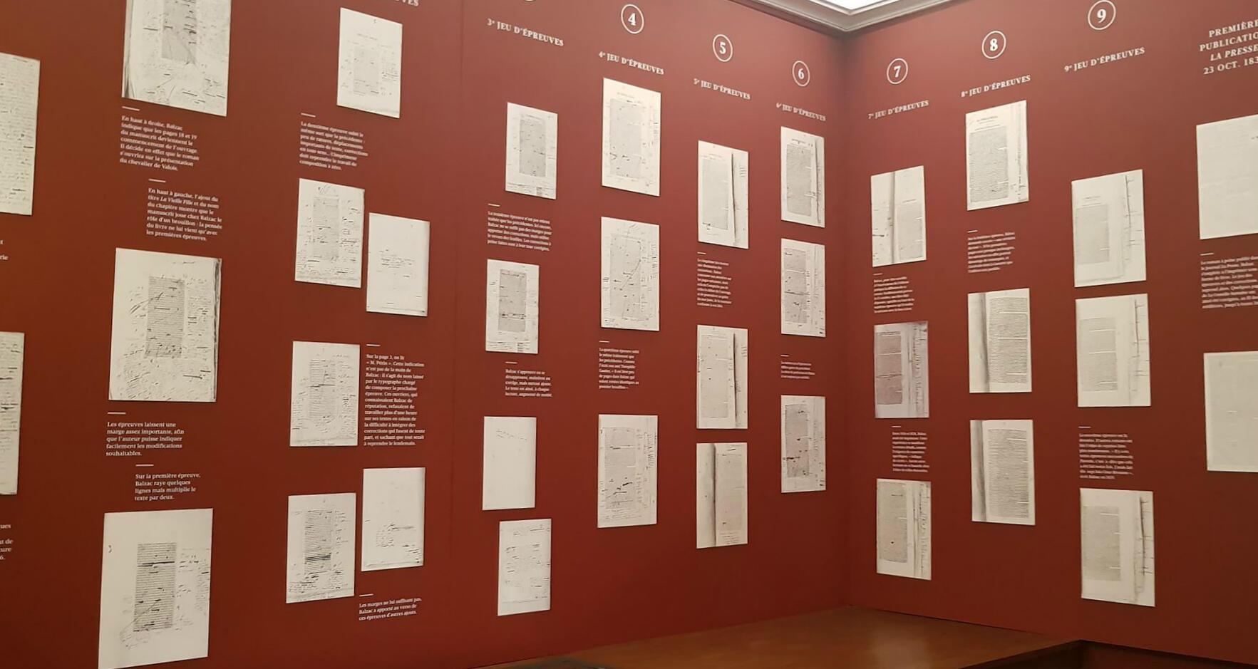Печатные тексты Бальзака с правками