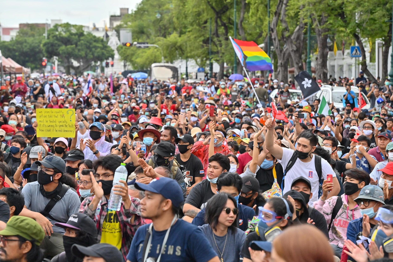 Une manifestation pro-démocratie et contre le gouvernement thaïlandais le 20 septembre 2020 à Bangkok.