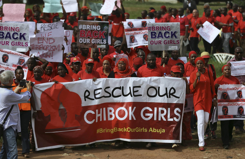 zanga-zangar neman a sako 'yan matan Chibok