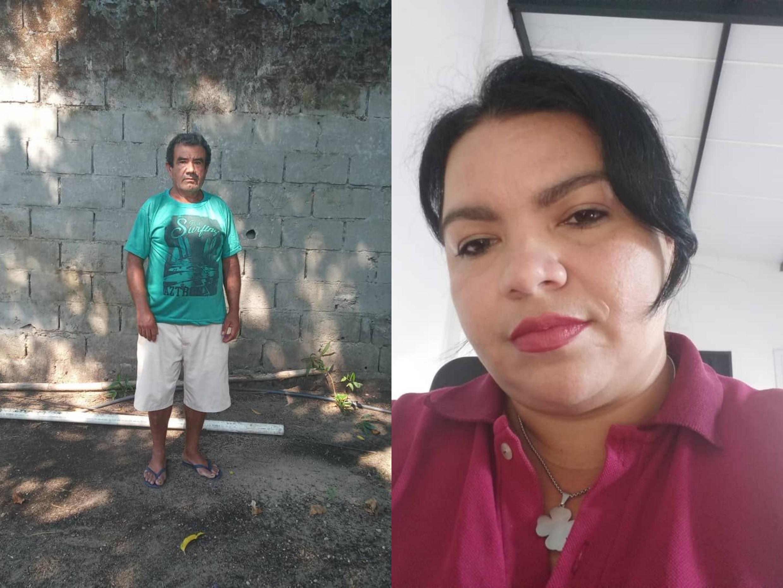 O o garimpeiro Luis Rodrigues Amorim  e Maria Luiza Rodrigues Motta, ex-funcionário do vice-consulado brasileiro em Puerto Ayacucho (no sul venezuelano),