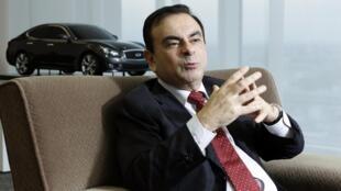 Carlos Ghosn, PDG du groupe Renault et patron de l'alliance mondiale Renault-Nissan-Mitsubishi.