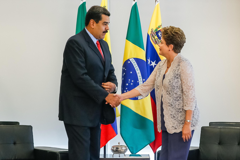 Presidenta Dilma Rousseff durante encontro com Nicolás Maduro, Presidente da Venezuela. (Brasília - DF, 02/01/2015)