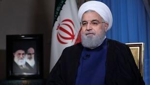 Tổng thống Iran Rohani lúc trả lời phỏng vấn đài truyền hình ở Teheran, ngày 6/08/2018.