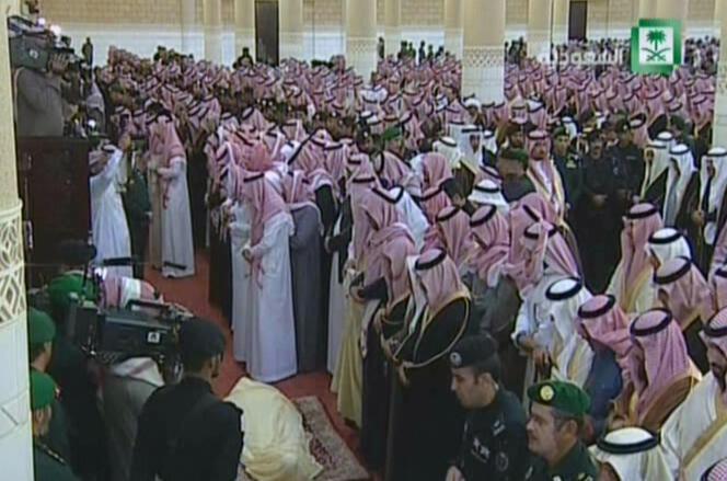 Funérailles du roi Abdallah à Riyad, le 23 janvier 2015.