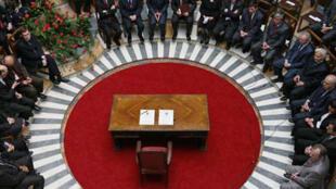 Le Parlement du Kosovo.