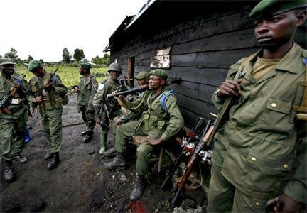 Wanajeshi wa Serikali ya DRC.