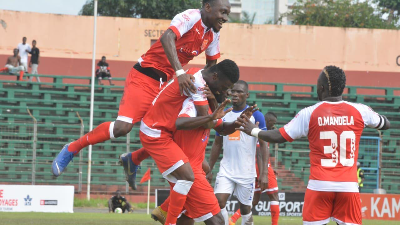 La joie des joueurs du Horoya de Conakry, le 25 août 2019.