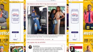 Capture écran du blog de Linda Ikeji, le 30 septembre 2016.