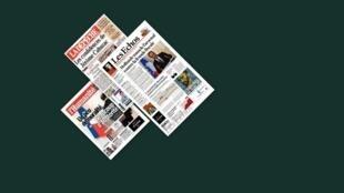 Capa dos jornais franceses, La Depeche du Midi, Les Echos e L'Humanité desta quinta-feira, 11de abril.