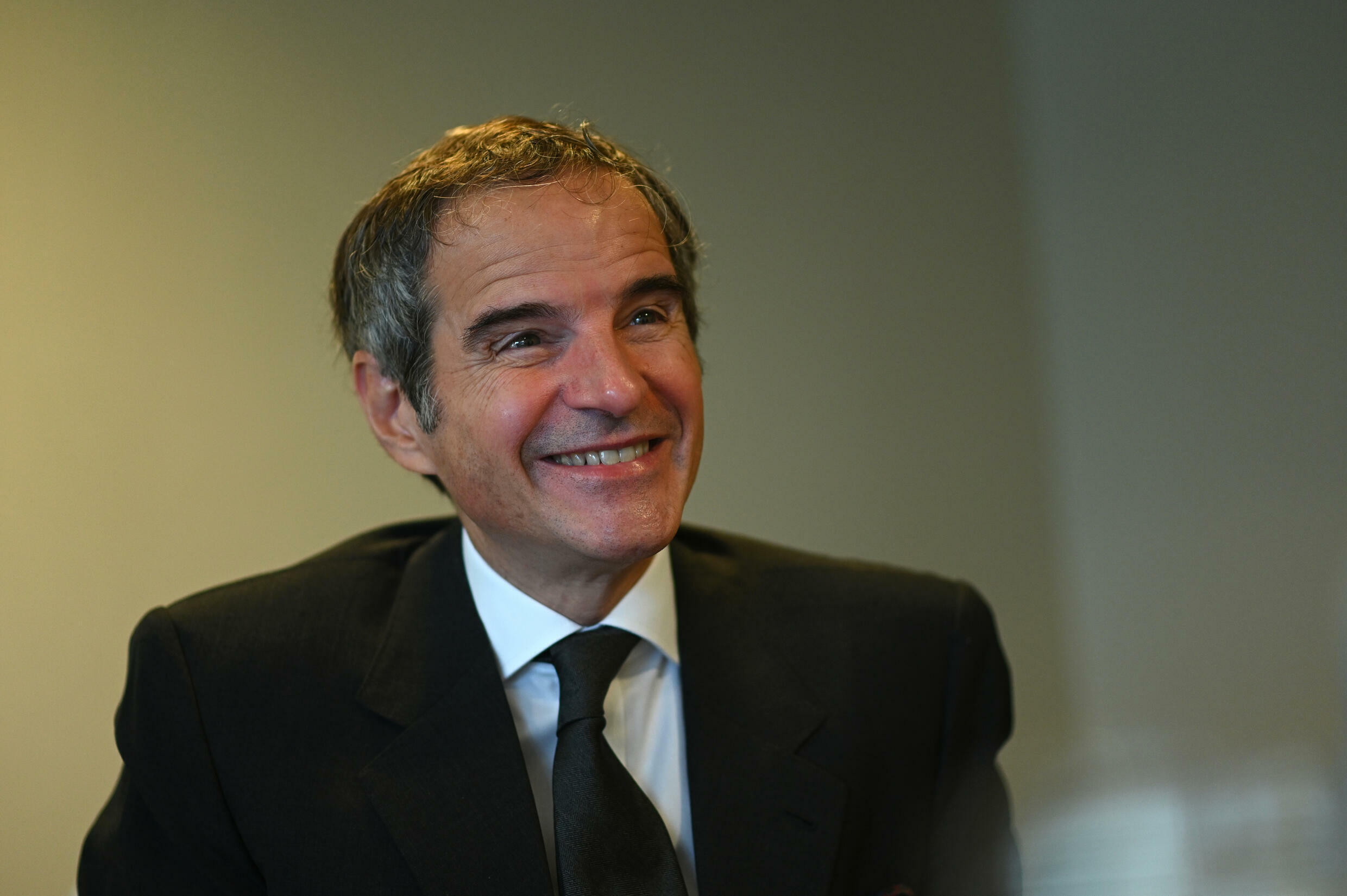 International Atomic Energy Agency chief Rafael Grossi speaks during an interview with AFP in Rio de Janeiro