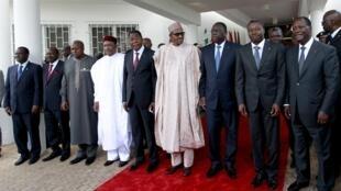 Viongozi wa ECOWAS wakiwa katika mkutano wa dharura kuhusu hali ya kisiasa nchini Burkina Faso