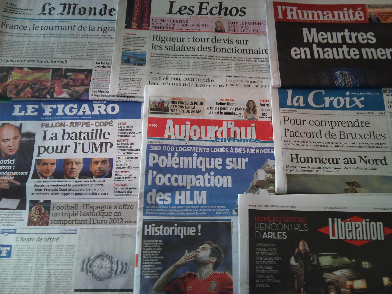 Diários franceses - 02/07/2012