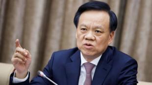 图为中国人大会议重庆分组会议上重庆市委书记陈敏尔批薄熙来和孙政才